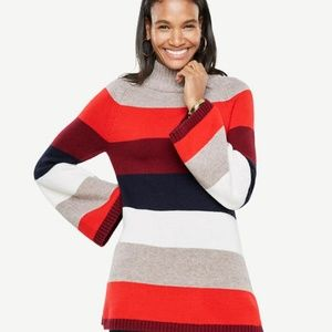 NWT Ann Taylor red striped bell sleeve sweater